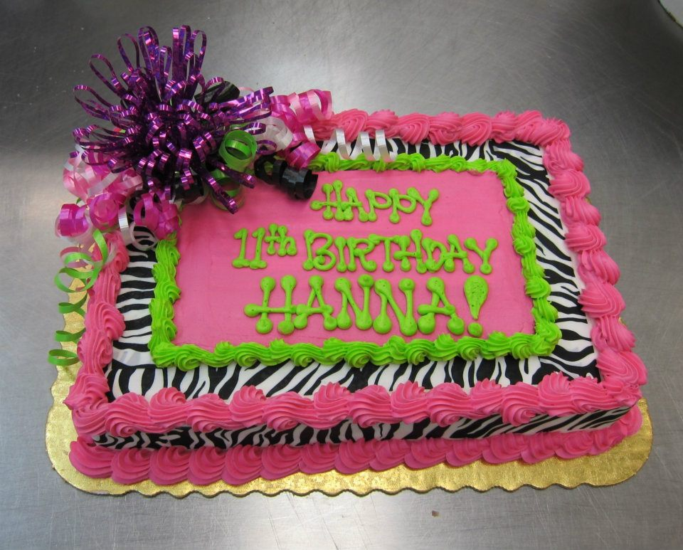 girl birthday sheet cakes ; 9ebc9d79aedad4bca623e7effb91c707