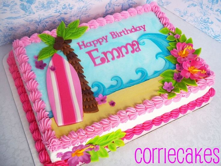 girl birthday sheet cakes ; df46454164057528bb4c829eb9fa9e27