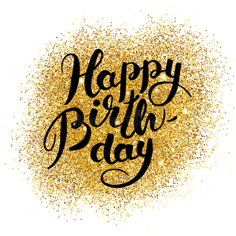 gold happy birthday sign ; happy-birthday-gold-sparkles-background-lettering-greeting-logotype-card-poster-sign-banner-web-postcard-invitation-89185017
