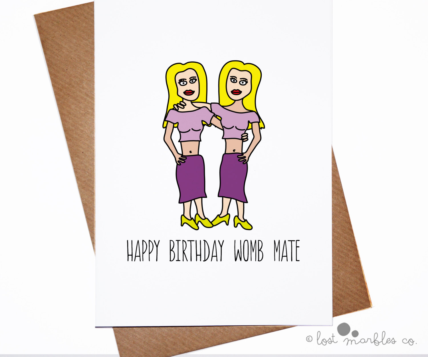 good birthday card drawings ; cute-birthday-cards-twins-girl-yellow-hair-purple-clothings-womb-mate-white-background-simple-photos-draw-greetings-clipart-drawing