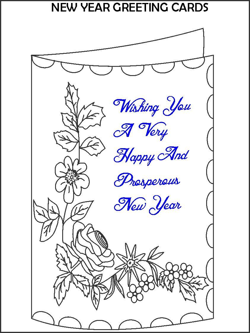 good birthday card drawings ; greeting%2520card%2520new%2520year%2520drawings%2520;%25203179-2238-coloring-new-year-greeting-card