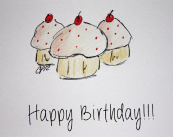 good birthday card drawings ; il_340x270