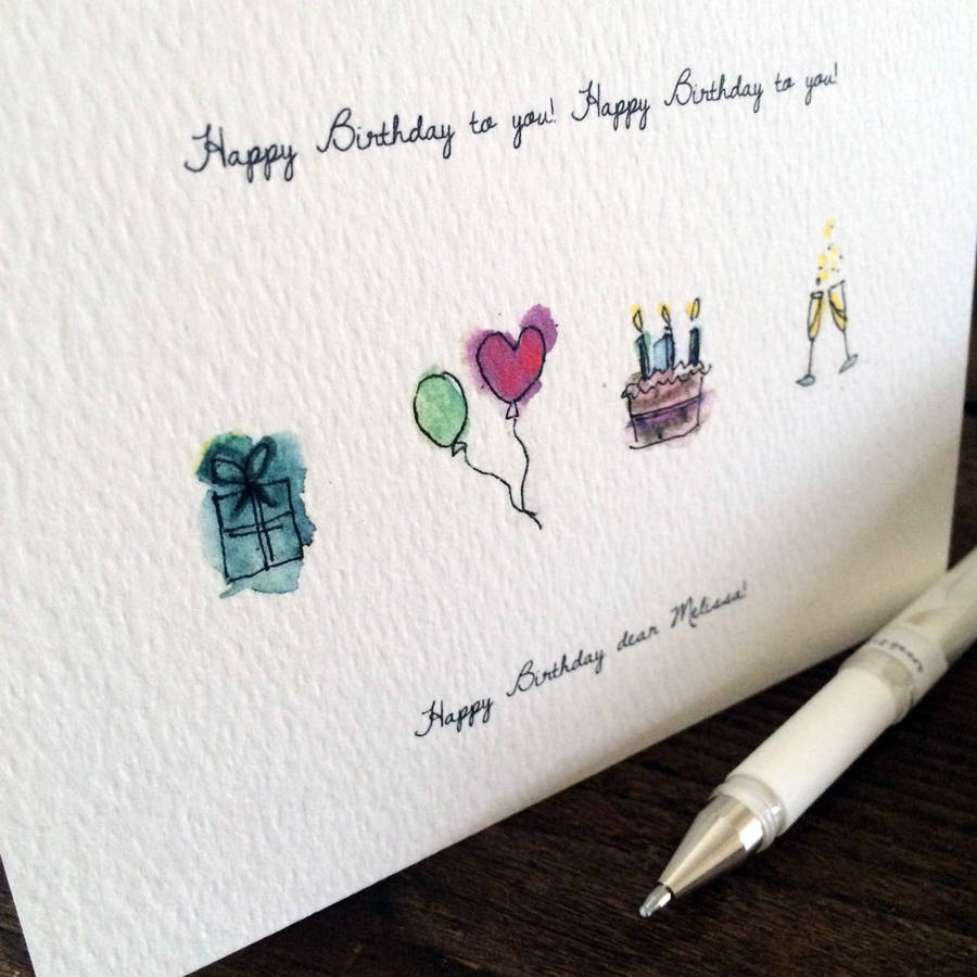 good birthday card drawings ; original_personalised-hand-drawn-birthday-card