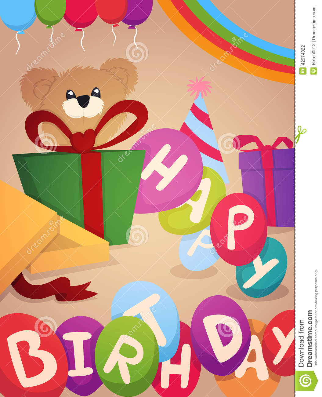 greeting cards design for birthday ; happy-birthday-greeting-card-design-eps-vector-format-42974822