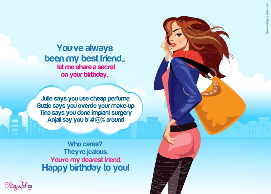 greeting cards for birthday wishes to friend ; share-a-secret-friend-birthday