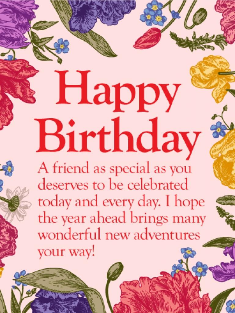 greeting cards for birthday wishes to friend ; to-my-special-friend-happy-birthday-wishes-card-birthday-within-happy-birthday-greetings-cards-for-friends-769x1024