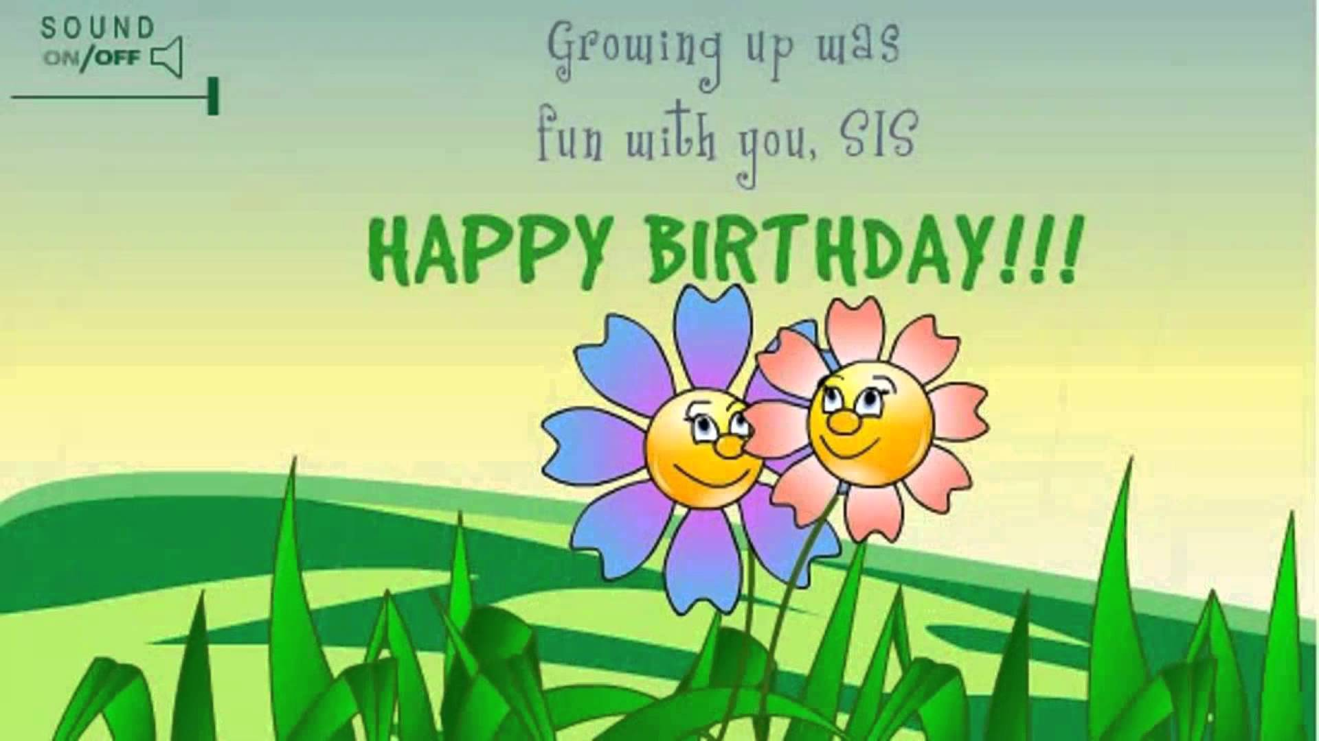 greeting message for sister birthday ; maxresdefault