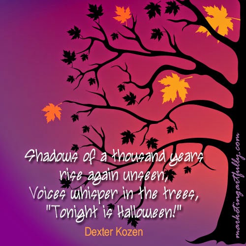 halloween birthday greeting messages ; Voices-whisper-in-the-tree-halloween-night