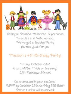 halloween themed birthday party invitation wording ; Costume-Birthday-Party-Invitation-Wording-(07)