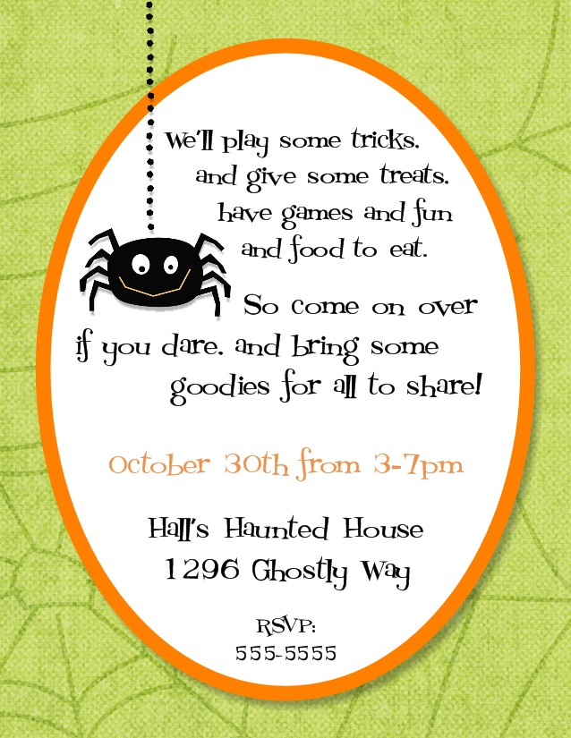 halloween themed birthday party invitation wording ; Halloween%252BParty%252BInvitation%252B3