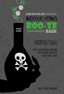 halloween themed birthday party invitation wording ; Toxic-Potion-Adult-Halloween-Party-Invitation