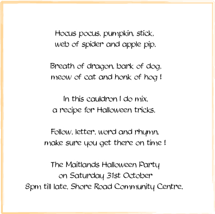 halloween themed birthday party invitation wording ; halloween3