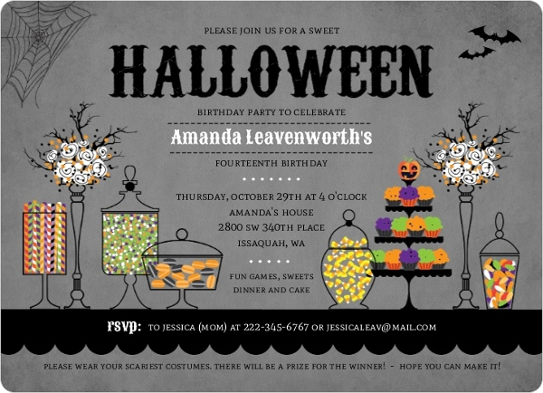 halloween themed birthday party invitation wording ; sweet-candly-station-halloween-birthday-party-invi_4714_1_large_rounded