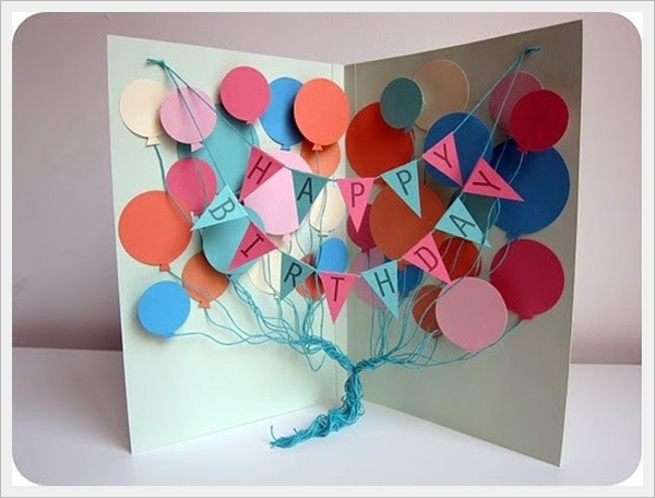 handmade birthday greeting card designs ; birthday-homemade-card-ideas