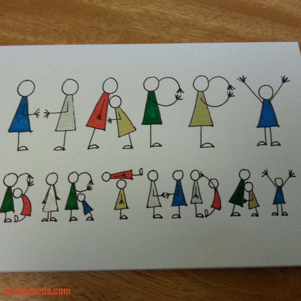 handmade drawing birthday cards ; drawn-birthday-cards-unique-people-letters-birthday-card-of-drawn-birthday-cards