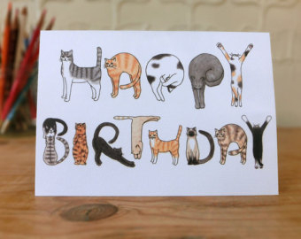 handmade drawing birthday cards ; some-interesting-ideas-of-handmade-cats-design-cards-quoet-drawing-birthday-card-ideas