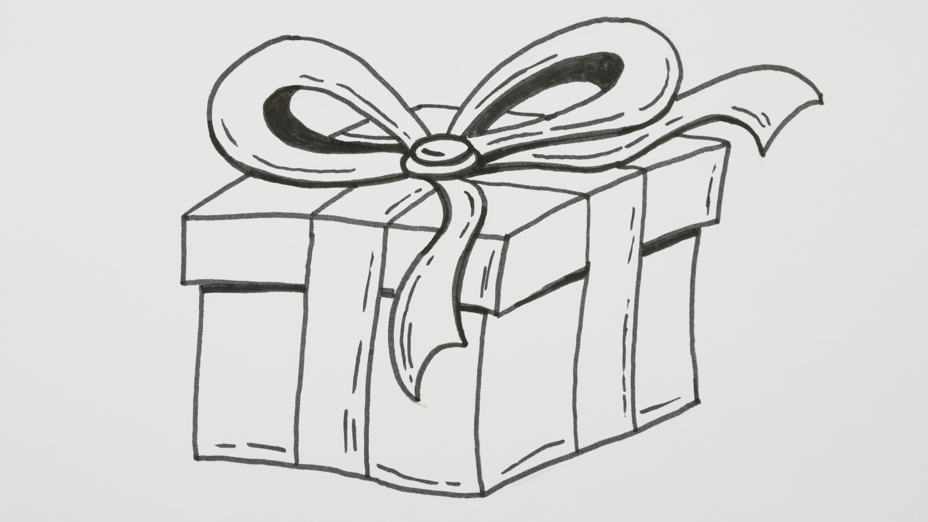happy b day drawings ; happy-birthday-day-cake-pencil-drawings-how-to-draw-a-happy-birthday-gift-box-with-bowknot-cartoon-comic
