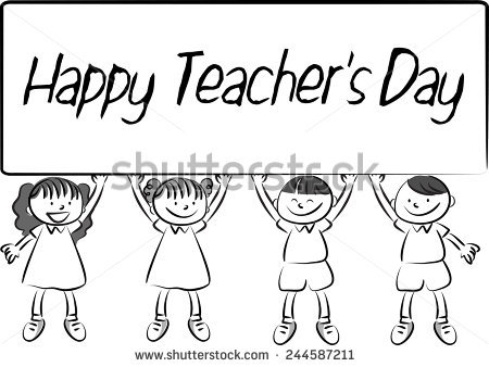 happy b day drawings ; stock-vector-happy-teacher-s-day-244587211