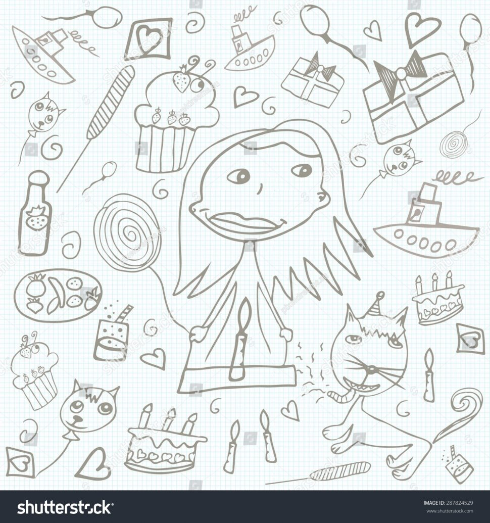 happy bday drawings ; coloring-stock-photo-happy-birthday-scribblesles-children-s-drawings-illustration-book-picture-inspirations-970x1035