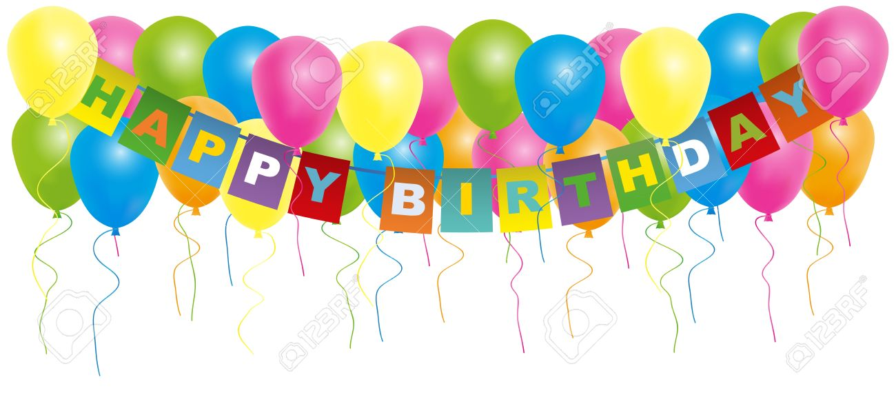 happy bday sign ; 17360310-happy-birthday-card-color-balloons-with-with-happy-birthday-sign-isolated-on-white-background