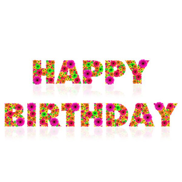 happy bday sign ; fotolia_2541715_XS