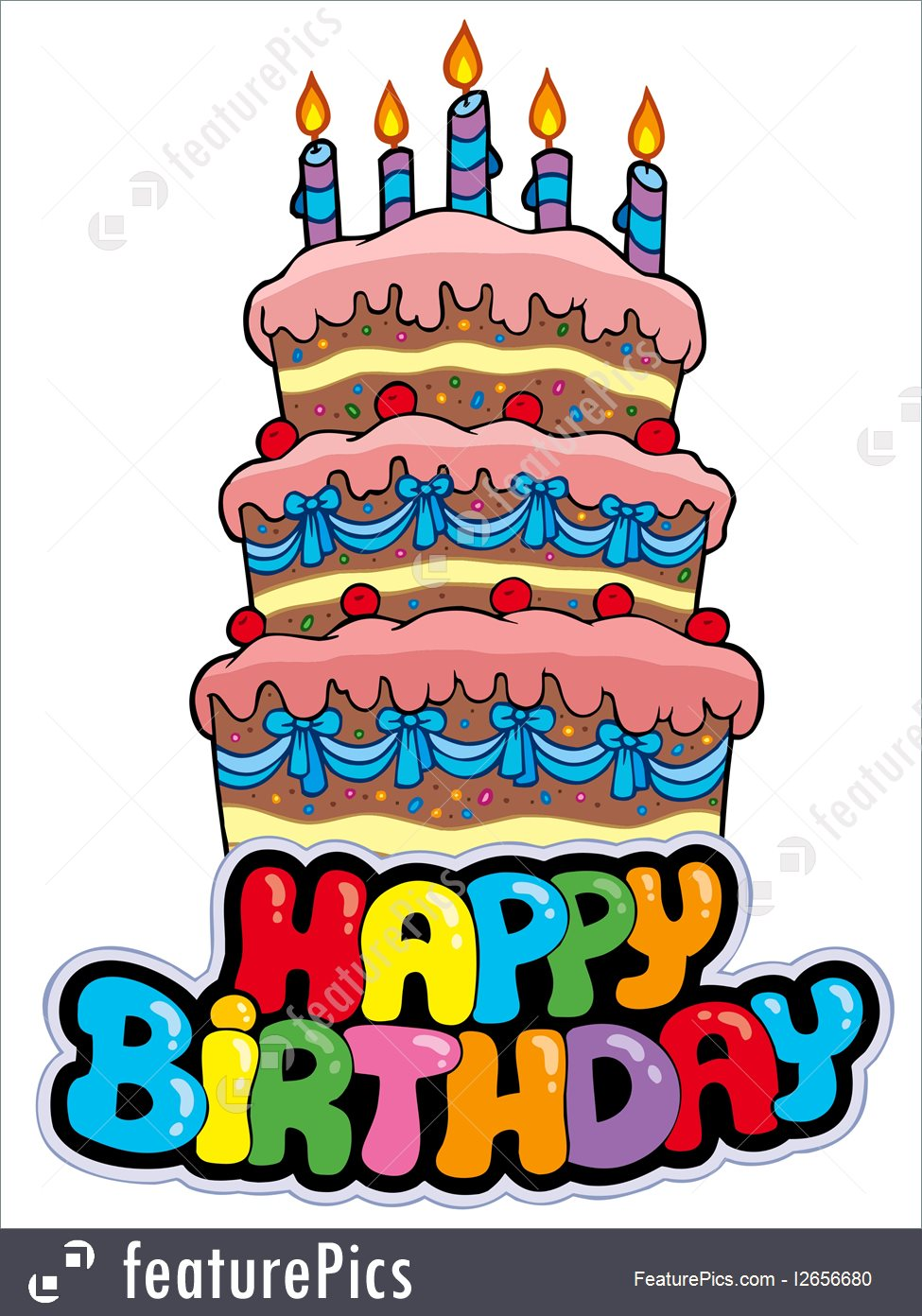 happy bday sign ; happy-birthday-cake-stock-illustration-1656680