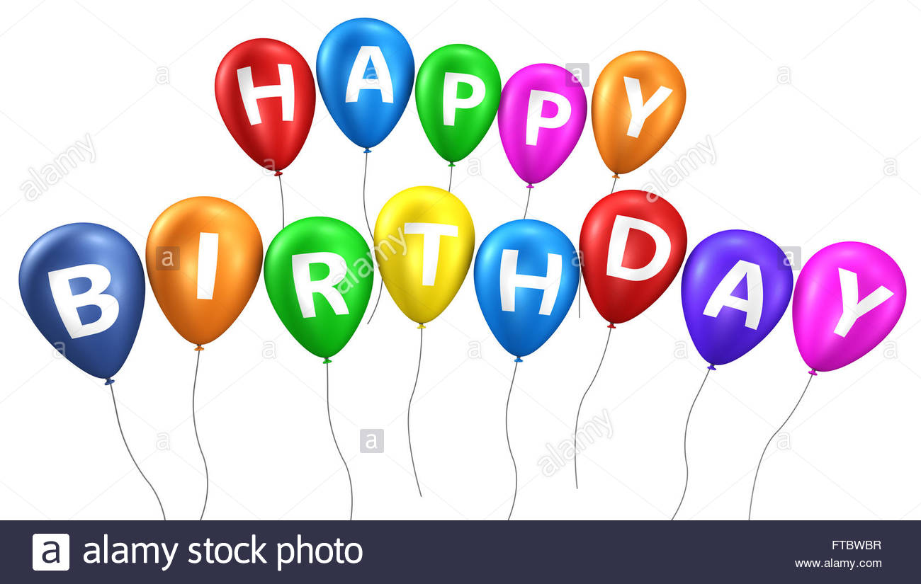 happy bday sign ; happy-birthday-sign-on-colorful-balloons-concept-with-word-and-letters-FTBWBR