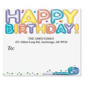 happy birthday address labels ; happy-birthday-package-label