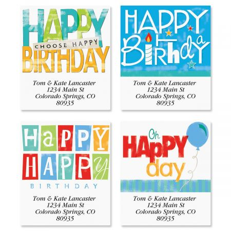 happy birthday address labels ; happy-birthday-select-address-labels-4-designs