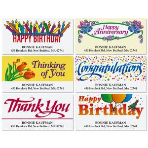 happy birthday address labels ; special-occasions-deluxe-address-labels-6-designs-y14_2
