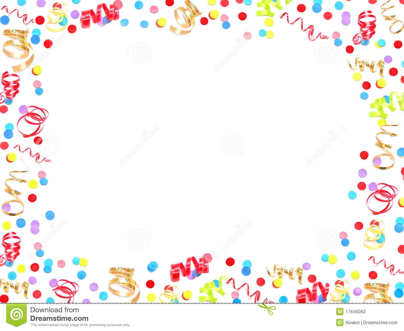 happy birthday border ; clipart-birthday-borders-and-frames-confetti-pencil-in-color