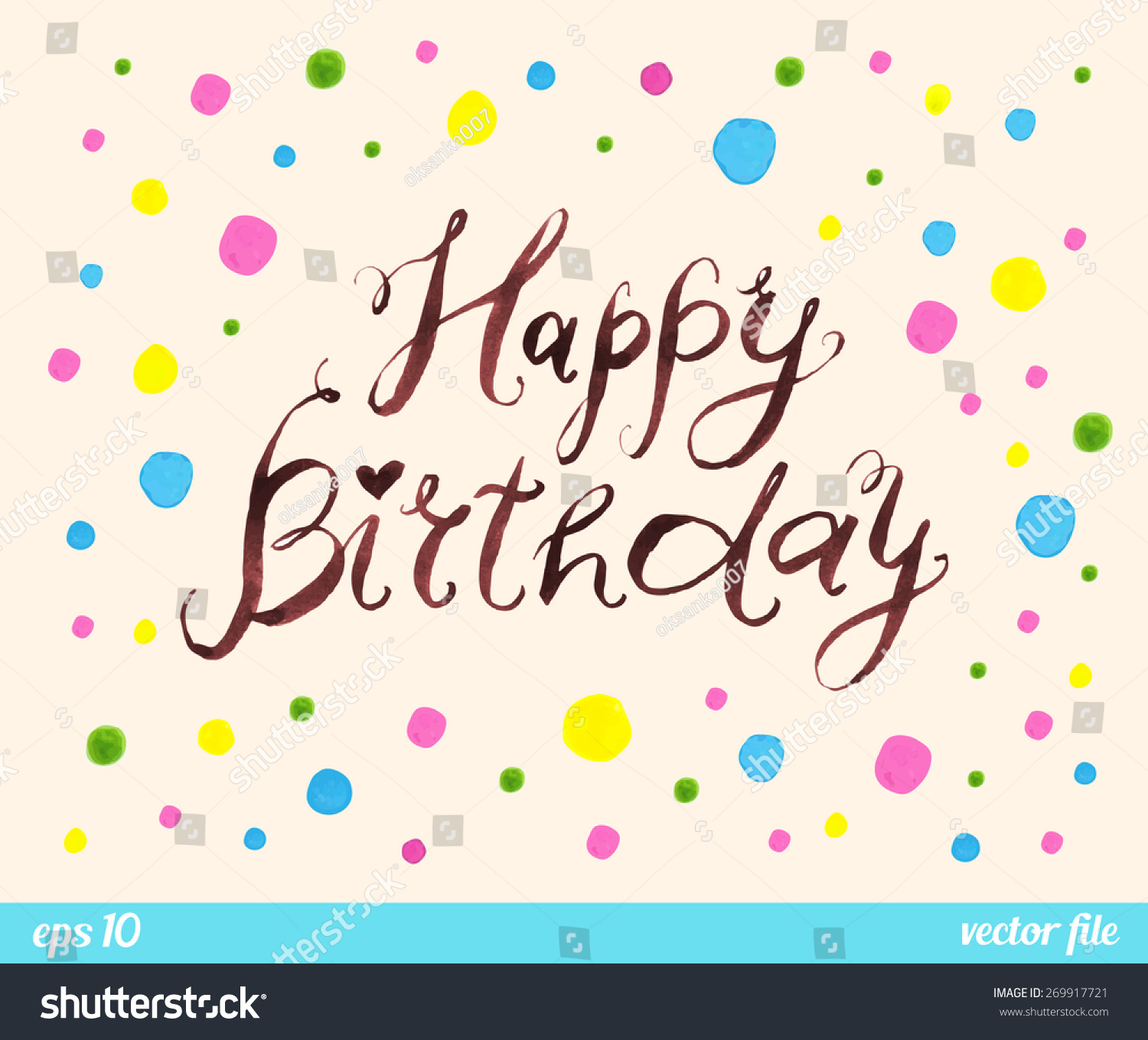 happy birthday border ; stock-vector-happy-birthday-text-message-confetti-pattern-border-frame-watercolor-ink-web-and-mobile-269917721