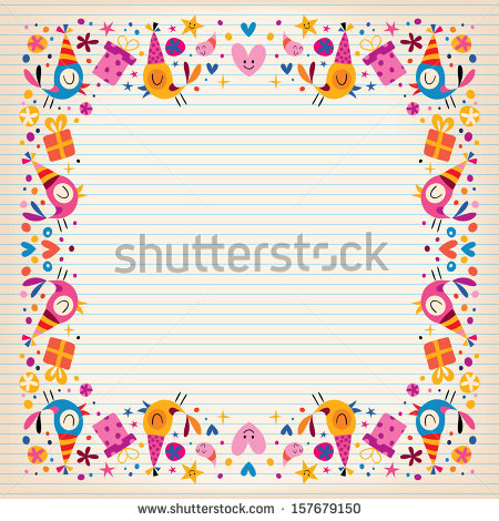 happy birthday border clip art ; stock-vector-happy-birthday-border-lined-paper-card-with-space-for-text-157679150