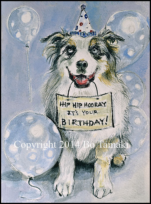 happy birthday border collie ; il_570xN