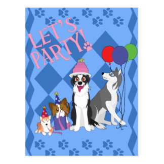 happy birthday border collie ; party_animals_postcard-r4845c9d7661745c9b525b0866697acdc_vgbaq_8byvr_324