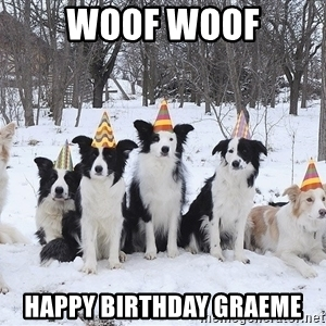 happy birthday border collie ; woof-woof-happy-birthday-graeme