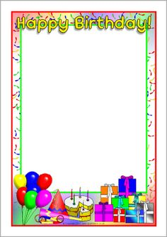 happy birthday border design ; 3c766b5d069ecf042d7e4c059eabdc16--page-borders-party-hats