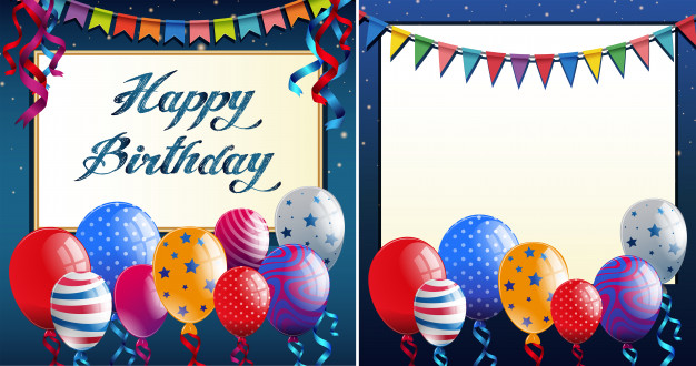 happy birthday border templates ; happy-birthday-card-template-with-blue-border-and-colorful-balloons_1639-433