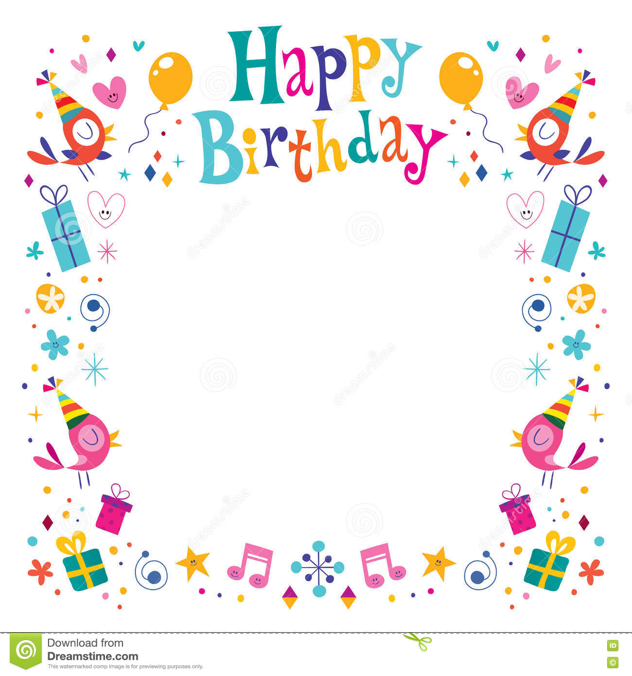 happy birthday borders and frames ; Happy%2520Birthday%2520Border%2520Clipart%252010