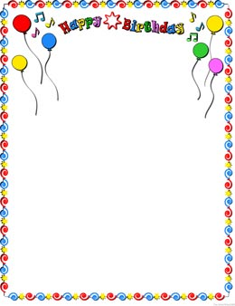 happy birthday borders and frames ; birthday-frames-clipart-1