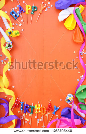 happy birthday borders for pictures ; stock-photo-happy-birthday-background-with-decorated-borders-with-party-decorations-on-a-bright-orange-wood-468705440