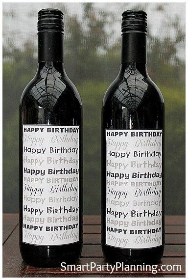 happy birthday bottle labels ; il_570xN