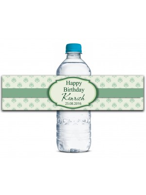 happy birthday bottle labels ; wbl170b