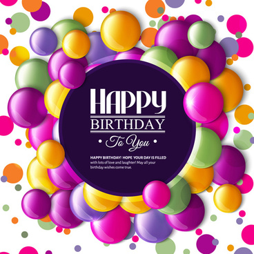 happy birthday card borders ; birthday_card_with_colored_balloons_vector_582748