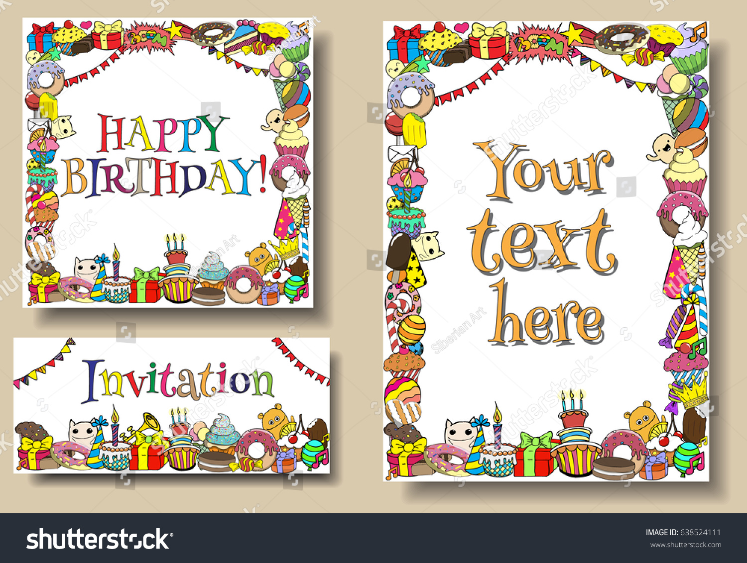 happy birthday card borders ; stock-photo-set-greeting-cards-birthday-party-templates-with-sweets-doodles-borders-638524111