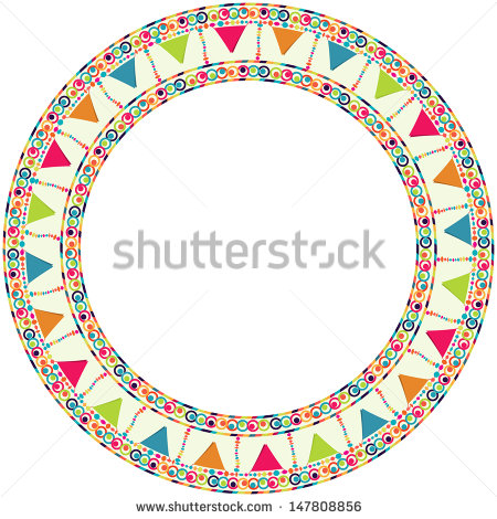 happy birthday card borders ; stock-vector-round-frame-border-with-garland-for-happy-birthday-card-poster-postcard-placard-147808856