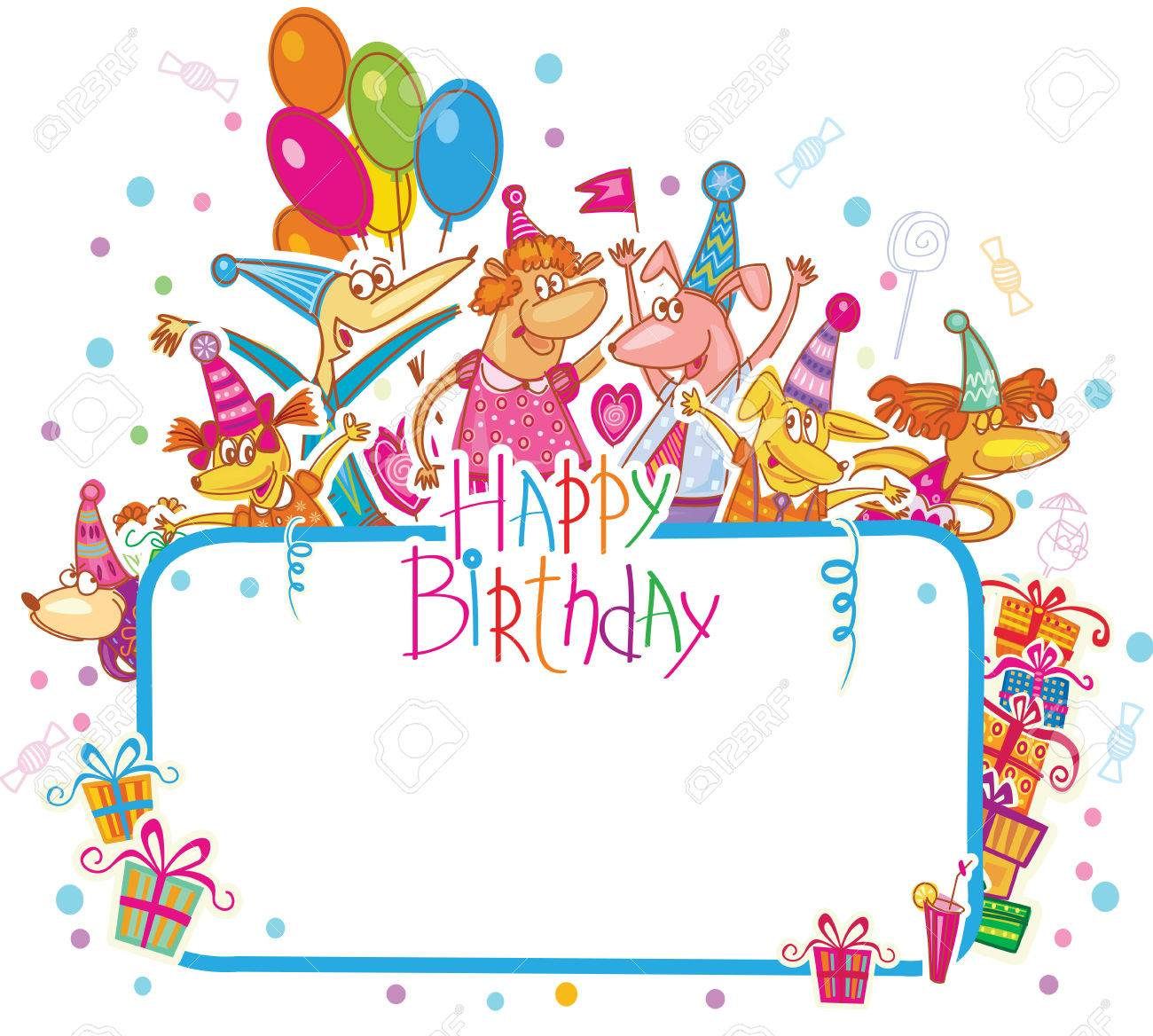 happy birthday card clipart ; 36162489-template-for-happy-birthday-card-with-place-for-text