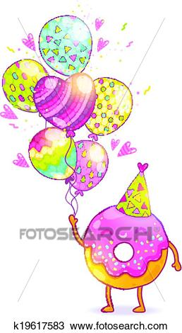 happy birthday card clipart ; happy-birthday-card-background-with-clipart__k19617583