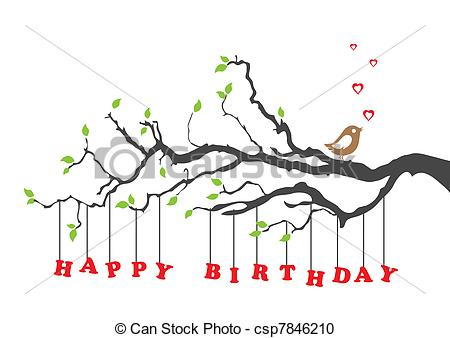 happy birthday card clipart ; happy-birthday-card-with-bird-vector-clipart_csp7846210
