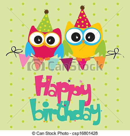 happy birthday card clipart ; happy-birthday-illustration_csp16801428